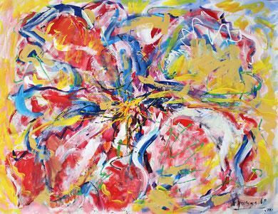 Fleur  N° 2, acrylique sur toile, 116 x 90 cm, 2011