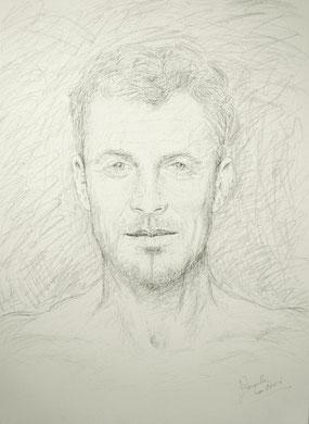 Juan Manuel, encre et crayon sur toile, 60 x 80 cm, 2006