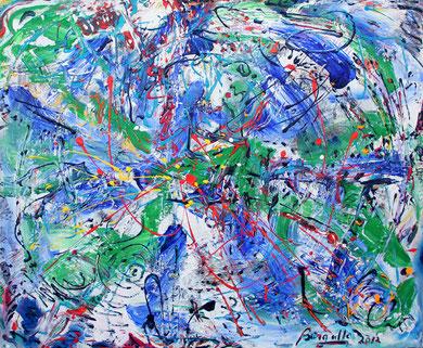 Fleur N° 21, acrylique sur toile, 120 x 100 cm, 2012