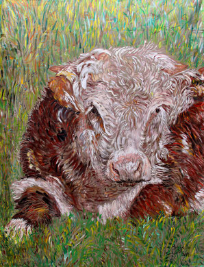 Le Taureau, acrylique sur toile, 275 x 205 cm, 2014
