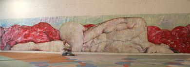 Infini Mon Amour, acrylique sur toile, 12 m x 2.15 m, 2015