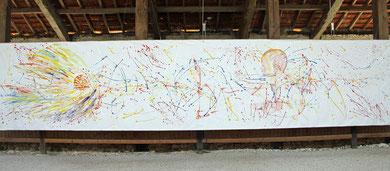 Esperanza, acrylique sur toile, 10 m x 2m15, 2016