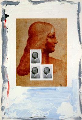 Autobiografia 7, techniques mixte, 50 x 65 cm, 1984.