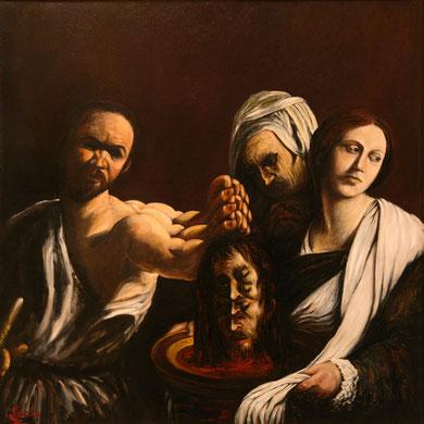 Salomé, huile sur toile, 100 x 100 cm,  1981.