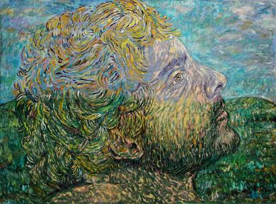 Orfeo et l'Infini, acrylique sur toile, 3.20 m x 2.10 m, 2016