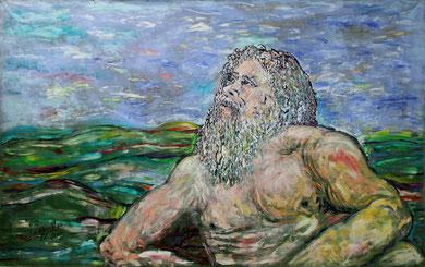 Hercule et l'Infini, acrylique sur toile, 3.40 m x 2.10 m, 2016