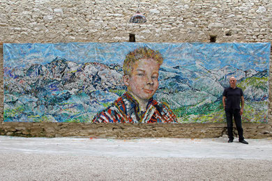 Le Défi, acrylique sur toile, 7.30 m 2.15 m, 2015