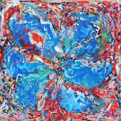 Fleur  N° 9, acrylique sur toile, 120 x 100 cm, 2011