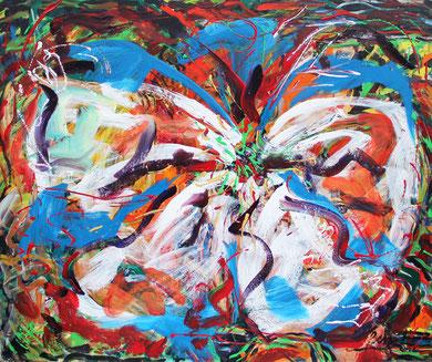 Fleur  N° 7, acrylique sur toile, 120 x 100 cm, 2011