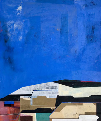 James Wallace Harris:   New earth 3, 2013, Öl auf Holz, 60 x 73 cm, Galerie SEHR Koblenz