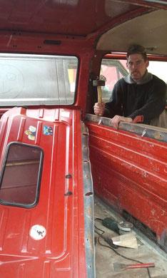VW T3 Rückwand raus