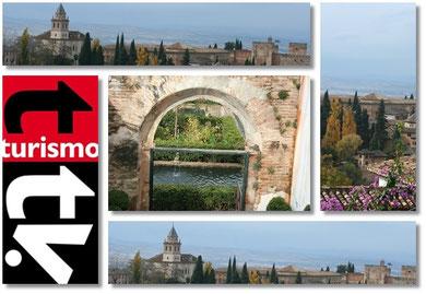 Turismo Tv en La Alhambra. Turismo Tv, televisión turística en España.