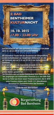 Kulturnacht 10.10.2015 Bad Bentheim, Atelier Gerda Fidder