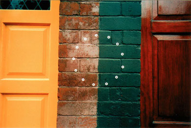 round things for dublin, stickers on walls, 2001, copyright chantal labinski and marcel hager