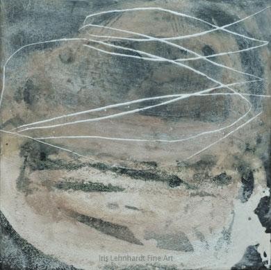588. 30x30 cm. Acryl/Wachs auf Holzkörper. Iris Lehnhardt 2017
