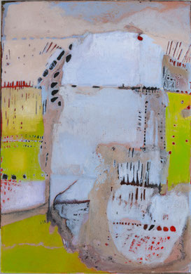 FONTAINE DE JOUVANCE, acrylique et techniques mixtes sur toile, 92x65 cm, 2011
