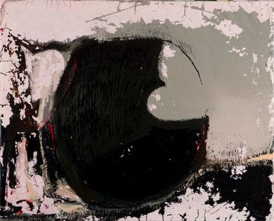 COMMENCEMENT 2, acrylique et techniques mixtes sur toile, 73 x 90 cm, 2013