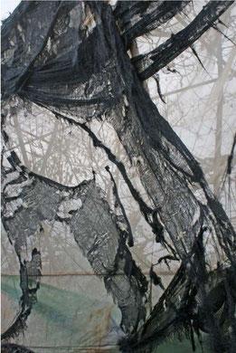 SE VOILER LA FACE, photographie contrecollée sur alu dibond, papier aquarelle, 40x60 cm