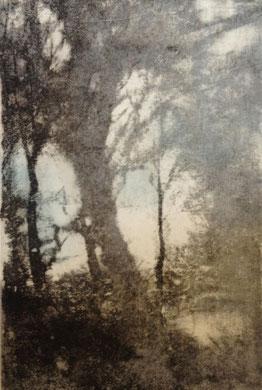VOYAGE A TRAVERS LE TEMPS III, gravure, 40 x 50 cm, 2014
