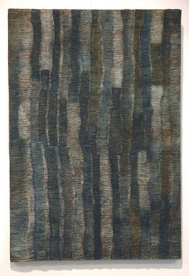 SANS TITRE BLEU, papier et encre, 50 x 73 cm, 2014