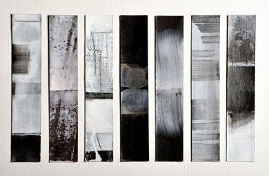 SIGNETS, gouache, vernis, 4 x 25 cm l'un, 2013