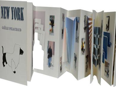 NEW YORK, livre animé-sculpture de papier, 16x24cm (16x176 ouvert), Editions Rafaël Andréa,  2012