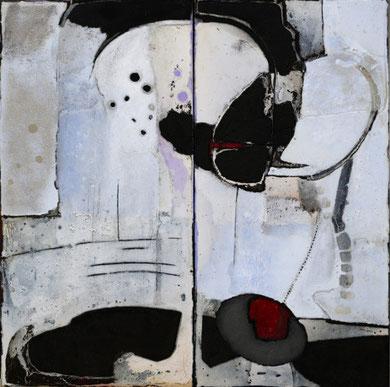 ABYSSINIE, acrylique et techniques mixtes sur toile, 100x100 cm, 2011
