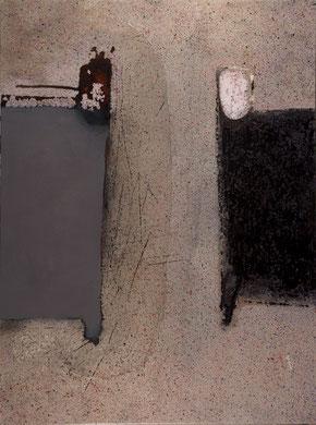 LES INFINIS LIMITES, acrylique et techniques mixtes sur toile, 130 x 97 cm, 2013