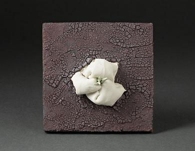 TABLEAU MARIN, raku, 20 cm de large, 2015