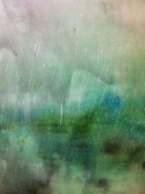 TRACE DE PLUIE, encre et acrylique sur papier, 50 x 61 cm, 2012