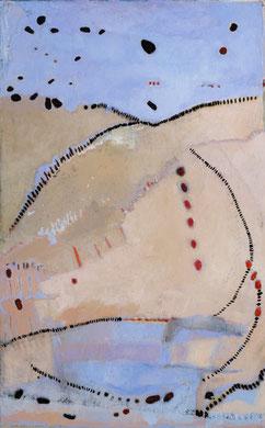 CORPS A CORPS, acrylique et techniques mixtes sur toile, 100 x 73 cm, 2011