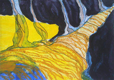IMPRUDENCES, acrylique et techniques mixtes sur papier, 30 x 20 cm, 2011