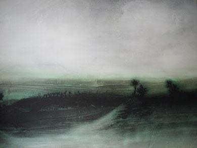 VOYAGE A TRAVERS LE TEMPS 7, encre et acrylique sur papier, 130 x 97 cm, 2012