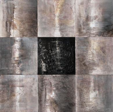 SANS TITRE, huile, 105 x 105 cm, 2013