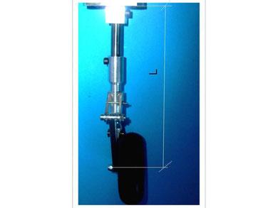 Läge L=Unterkante Fahrwerksmechanik bis Mitte Radachse