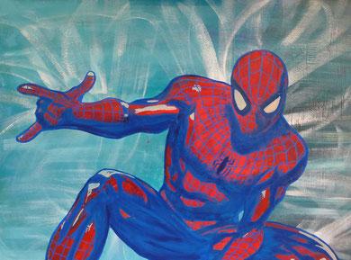 votre portrait street art spiderman pour enfant
