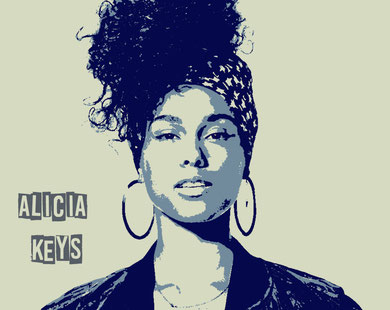 alicia keys street art tableau photo sur toile slave 2.0