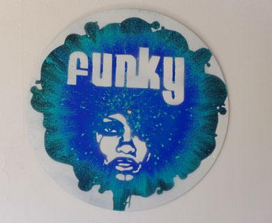 disque vinyle décoratif funky afro soul music
