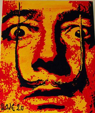 votre portrait street art de salvador dali