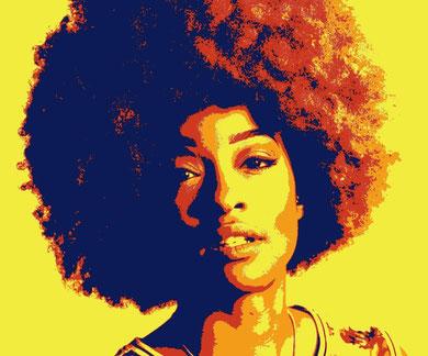 funky woman tableau street art slave 2.0