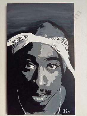 votre portrait street art tupac shakur