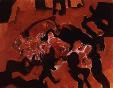 Aufbruch 1995  Pigment/Kreide auf Papier 52 x 65 cm