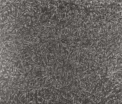 Ueberblick 1995  Kohle auf Hartfaserplatte 113 x 135 cm