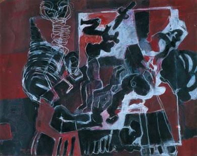 Zeitlos 1995  Pigment/Kreide auf Papier 52 x 65 cm