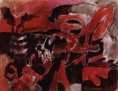 Blick ins Freie 1994  Pigment/Kreide auf Papier 52 x 65 cm