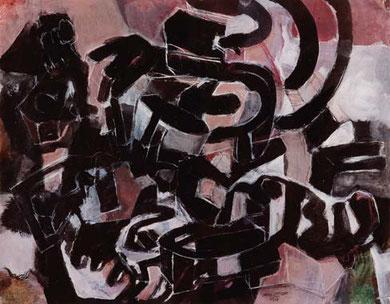 Stadtstruktur 1995  Pigment/Kreide auf Papier 52 x 65 cm