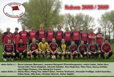 Saison 2008/09 - Bezirksklasse, Staffel 4 - Dresden