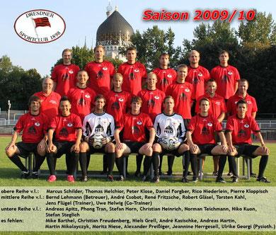 Saison 2009/10 - Bezirksklasse, Staffel 4 - Dresden