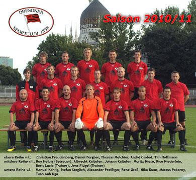 Saison 2010/11 - Bezirksklasse, Staffel 4 - Dresden