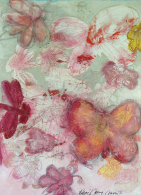 Printemps                 Mixed Media on heavy cotton             36''x48''